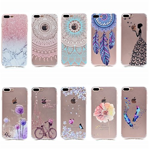 Hülle für iPhone 7 plus , Schutzhülle Für iPhone 7 Plus Dream Catcher Pattern Transparente weiche TPU schützende rückseitige Abdeckungs-Fall ,hülle für iPhone 7 plus , case for iphone 7 plus ( SKU : I IP7P6056B