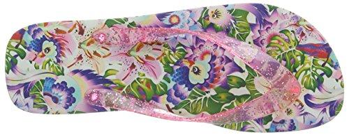 Irregolare pink Damen Multicolour Tropical Scelta Multi Flip Sandalen pTvfqf