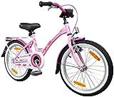 PROMETHEUS Kinderfahrrad 18 Zoll Mädchen Kinderrad in Farbe Rosa Lila