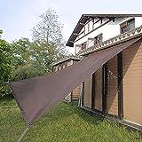 Telone Rete Ombreggiante Copertura per Finestra per Veranda Esterna Marrone, Gazebo Shade Cloth 90% -95% Sunblock, Schermata della Privacy Recinzione con Gommini (Size : 4mX8m)
