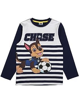 LA PATRULLA CANINA, Paw Patrol Niños Camiseta, Azul Oscuro