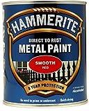 Hammerite Metall-Schutzlack, Matt, 750 ml, Rot, von Hammerite