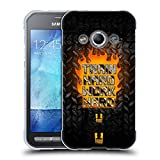 Head Case Designs Train Hard Fitness Motivation Soft Gel Hülle für Samsung Galaxy Xcover 3