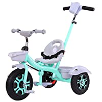 Kids Tricycle With Detachable Push Handle 3 Wheel Toddlers Children Ride On Pedal Trike Bike 2-5 Years EVA Soft Wheel/Titanium Wheel 78x52x60cm