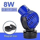 EXLECO JVP-131 Pompa di Flusso per Acquario, 6000L/H 8 Watt Pompa a Circolazione Wave Maker Rotazione a 360 ° per acquari d'Acqua Dolce e salata di 80~100 cm