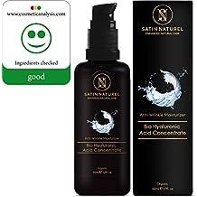 BIO Concentrado en sérum de ácido hialurónico en calidad ECOLÓGICA 50 ml / Gel hiaulurónico altamente dosificado antiedad / HECHO EN ALEMANIA / 97 % ecológico / OFERTA DE LANZAMIENTO / La más alta calidad / Frasco de vidrio con protección lumínica: con zumo directo de aloe vera 100 % ecológico como base / Cosmética natural vegana para la piel, el cuello, los ojos y el rostro / GARANTÍA DE DEVOLUCIÓN DEL DINERO / Apto para cualquier tipo de piel / antiarrugas para el cuidado del rostro