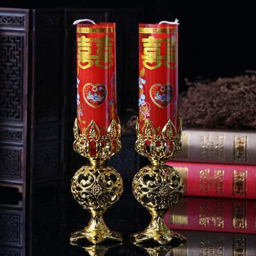 Chinesische Kerze (Hochzeit Kerzen, Drache und Phoenix Smokeless Bougie, Chinesische Art-Kerzen, Zwei Sätze)