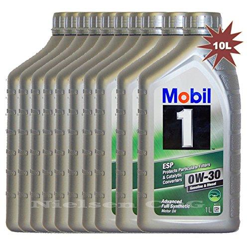 Mobil 1 ESP 0W-30-Olio motore completamente sintetico, MOB-151902-10-10 L = 10 x 1