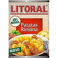 LITORAL Guiso de Patatas a la Riojana - Plato Preparado Sin Gluten - Paquete de 10 x 425 gr - Total: 4.25 kg