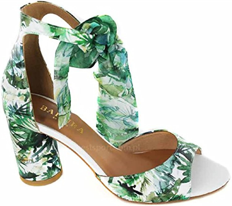 Zapatos De Verano Baotou Heels Zapatos De Mujer Hebilla De Cinturón Zapatos De Tacón De Cuero Sandalias Hembra... -