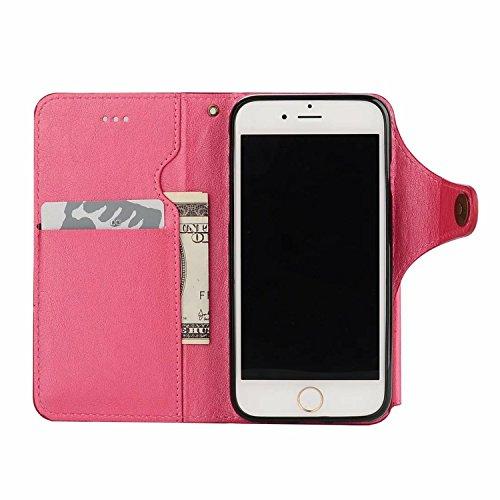 Coque iPhone 6 Plus / 6S Plus Portefeuille Etui Housse [Miroir Cosmétique] Amovible Cuir PU Premium Portable Pochette de Protection Case Cover pour iPhone 6 Plus / 6s Plus (5.5 Pouces) Sunroyal® 3 en  Pochette-02