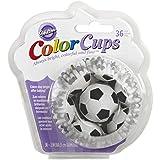Wilton ColorCups Backförmchen Fußball 36er, Paper, Bunt, 6.90 x 6.90 x 2.89 cm, 1 Einheiten