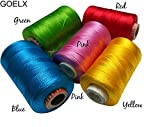 #10: Am Goelx Silk Thread Spools For Wrapping Shiny Bright 5 Colours