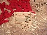 Ballonflugkarten-Set: EXTRAGROßE Herzballons rot 40 cm, Verschlüsse, Flugkarten