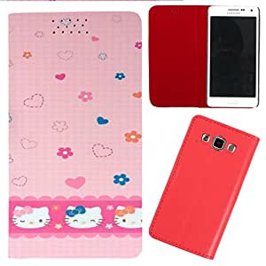 DooDa - For Lenovo A859 PU Leather Designer Fashionable Fancy Flip Case Cover Pouch With Smooth Inner Velvet