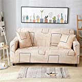 HOTNIU 1 Stück Stretch Sofa Couch Bezüge - Spandex Printed Loveseat Couch Schonbezug - Sessel Sesselbezug/Protector One Free Kissenbezug (3 Sitzer 175-220cm, Gemustert #6)