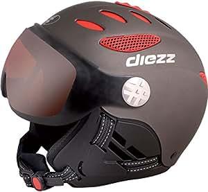 Diezz - Casques de ski - Louna visiere - Titanium red - Casques de Vélo