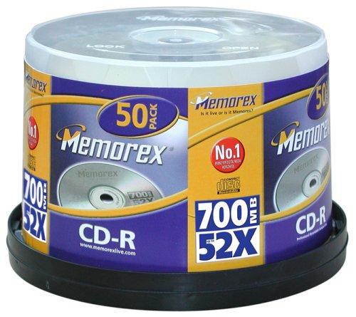 memorex-52x-cd-r-700mb-50er-spindel-rohlinge-80-min