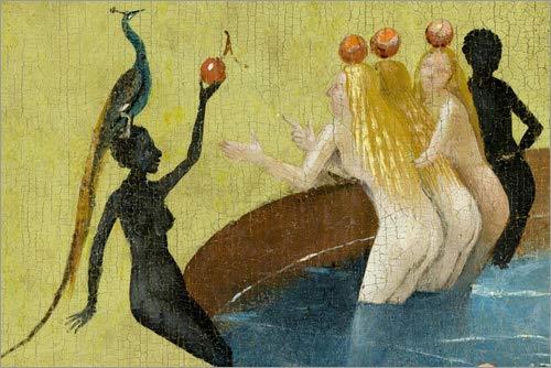 Poster 30 x 20 cm: Garten der Lüste, Menschheit vor der Sintflut (Detail) von Hieronymus Bosch - Hochwertiger Kunstdruck, Kunstposter