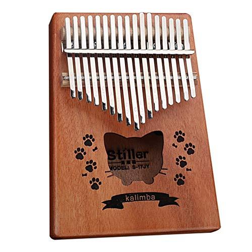 VCB 17 Thumb Harp Kalimba Mahagoni Vollfurnier Leicht zu erlernende Musikinstrumente - Holz (Sunny Cat)