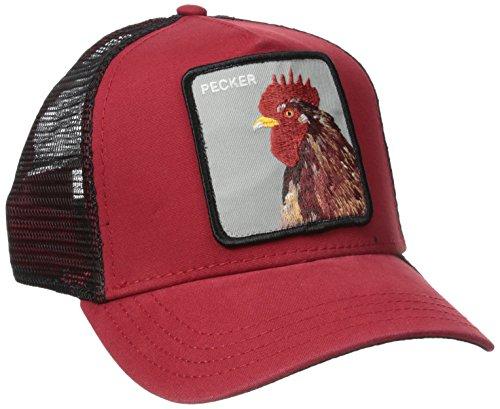 Gorra trucker roja gallo Plucker Goorin Bros. - Rojo
