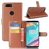OnePlus 5T hüllen Leder Handyhülle Brieftasche Handy mit innere Gummi SilikonSchutzhülle Flip Case Cover One Plus 5T