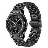 TRUMiRR Für Samsung Gear S3 Frontier/Classic Armband, 22mm Edelstahl Uhrenarmband Quick Release Armband für Samsung Gear S3 Classic Frontier, Gear 2 Neo Live, LG G Watch Urbane, Amazfit
