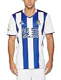 adidas 2ª Equipación Real Sociedad FC, Camiseta Oficial de Fútbol, Hombre, Blanco, M