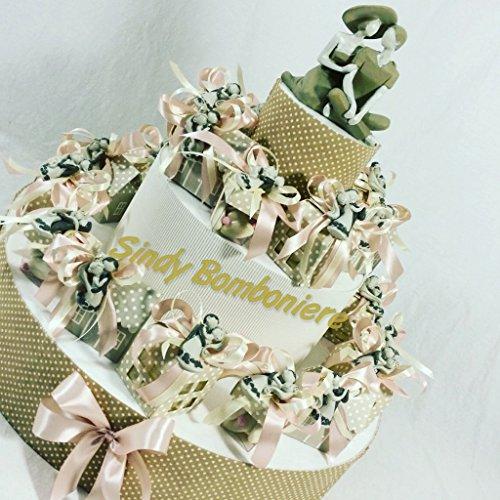 Torta portaconfetti matrimonio con scatoline portaconfetti e centrale (torta completa)
