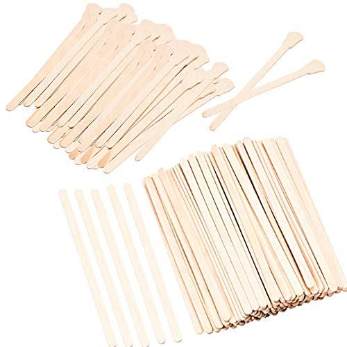 Mini-wachs-streifen (Wachs Spatel, 400 Stück Kleine dünne Holz-Waxing-Sticks für Gesicht Augenbrauen Beine Unterarm, Haarentfernungs-Stick Rührlöffel Waxing Craft Sticks, Beauty-Produkte für Frauen und Männer 8 Beutel)
