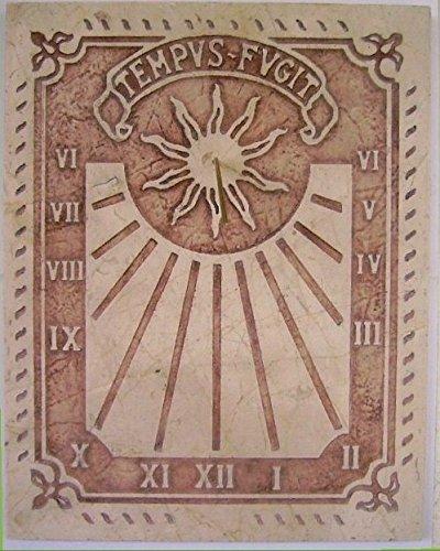 Art-Greus Reloj de Sol en Marmol crema o sespejeante estilo Romano