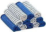RESPEKT Mikrofaser - Tücher PLUS, 12tlg - Set in veschiedenen Farben ::: Das Original aus dem TV!!! … (blau)