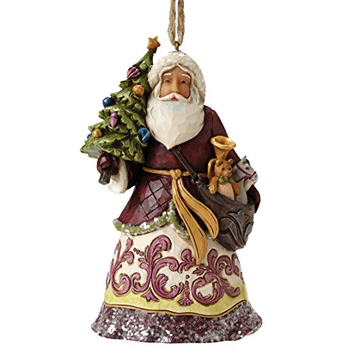 Heartwood Creek Victorian Santa With Tree (Hanging Ornament) -