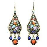Classic Big Circle Hook earrings donne Fashion Ethnic finto Turquoise earrings e lega, colore: 1#, cod. joyliveCY161687