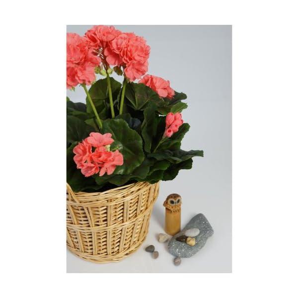 artplants.de Set de 2 x Decorativo Geranio MIA en Vara, Rosa, 35cm, Ø 30cm – Planta Artificial – Flor sintética