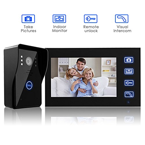 7  Wireless DoorbellAmzdeal Video Door Phone Intercom Entry System Kit with 1 Camera 1 Monitor + Electric Strike Lock  sc 1 st  Amazon UK & Video Door Entry Systems: Amazon.co.uk