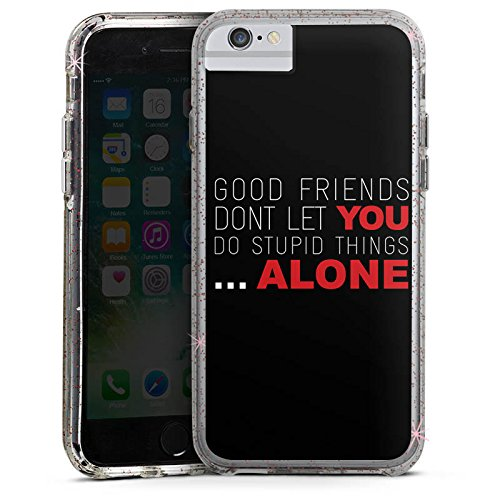 Apple iPhone 6 Bumper Hülle Bumper Case Glitzer Hülle Freunde Friends Friendship Bumper Case Glitzer rose gold