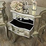 Tiffany Sortiment–Möbel Bundle Paar Nachttische 2Schubladen verspiegelt -