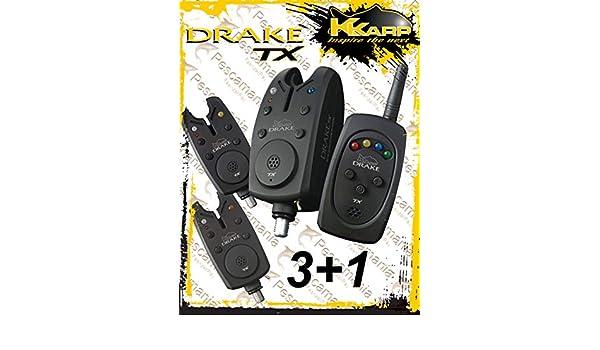 Avvisatori da Pesca Kkarp Drake TX Bite Alarma Set Carpfishing
