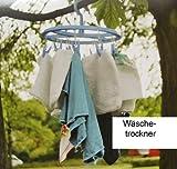 Wäschekarussell Hänge Wäschetrockner 12 Wäscheklammern Klammern Wäschespinne