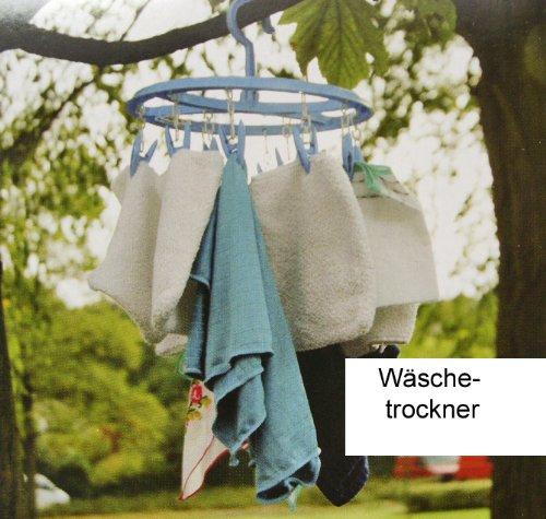 Preisvergleich Produktbild Wäschekarussell Hänge Wäschetrockner 12 Wäscheklammern Klammern Wäschespinne