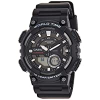 Casio Sport Analog-Digital Display Watch For Men Aeq-110W-1Avdf, Black Band