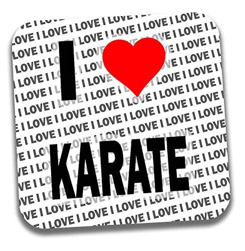 """Untersetzer mit Aufschrift\""""I Love Karate Getränke\"""" - Geschenk - Geburtstag - Weihnachten - Strumpffüller"""