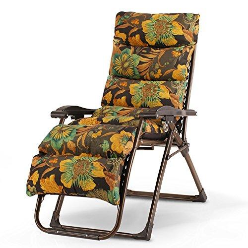 HAIZHEN ZHAIZHEN Chaise Lounge Gravity Chaise de gravité zéro, chaises inclinables réglables de chaise de terrasse de chaise de patio avec coussin pour l'appui de piscine de plage de patio de bureau 3