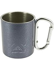 Elementerre MAHON - Taza de camping de acero inoxidable, color acero, talla 7,7 x 6,9