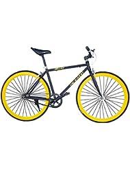 Helliot Bikes Fixie Tribeca H15 - Bicicleta urbana, color negro / amarillo, talla única