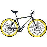 Helliot Bikes Fixie Tribeca H15 - Bicicleta urbana, color negro
