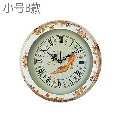 Oudan orologio da parete numero senza ticchetti orologio da parete al quarzo soggiorno decorativo camera da letto interna cucina idilliaco antiquariato stile retrò dipinto 12 in smalla