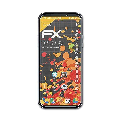 atFolix Panzerfolie kompatibel mit Xiaomi Black Shark 2 Pro Schutzfolie, entspiegelnde & stoßdämpfende FX Folie (3X)