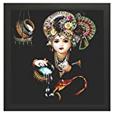 #8: PPD Framed Krishna Bal roop Wall Paintings for Living room and Bedroom With Frame size 12 inch x 12 inch With Special Effect Textured